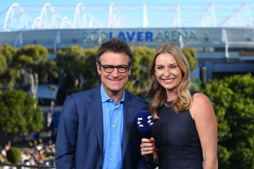Mats Wilander & Barabara Schett (ES - Australian Open)